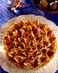 tarte aux figues et aux amandes supermarch s match. Black Bedroom Furniture Sets. Home Design Ideas